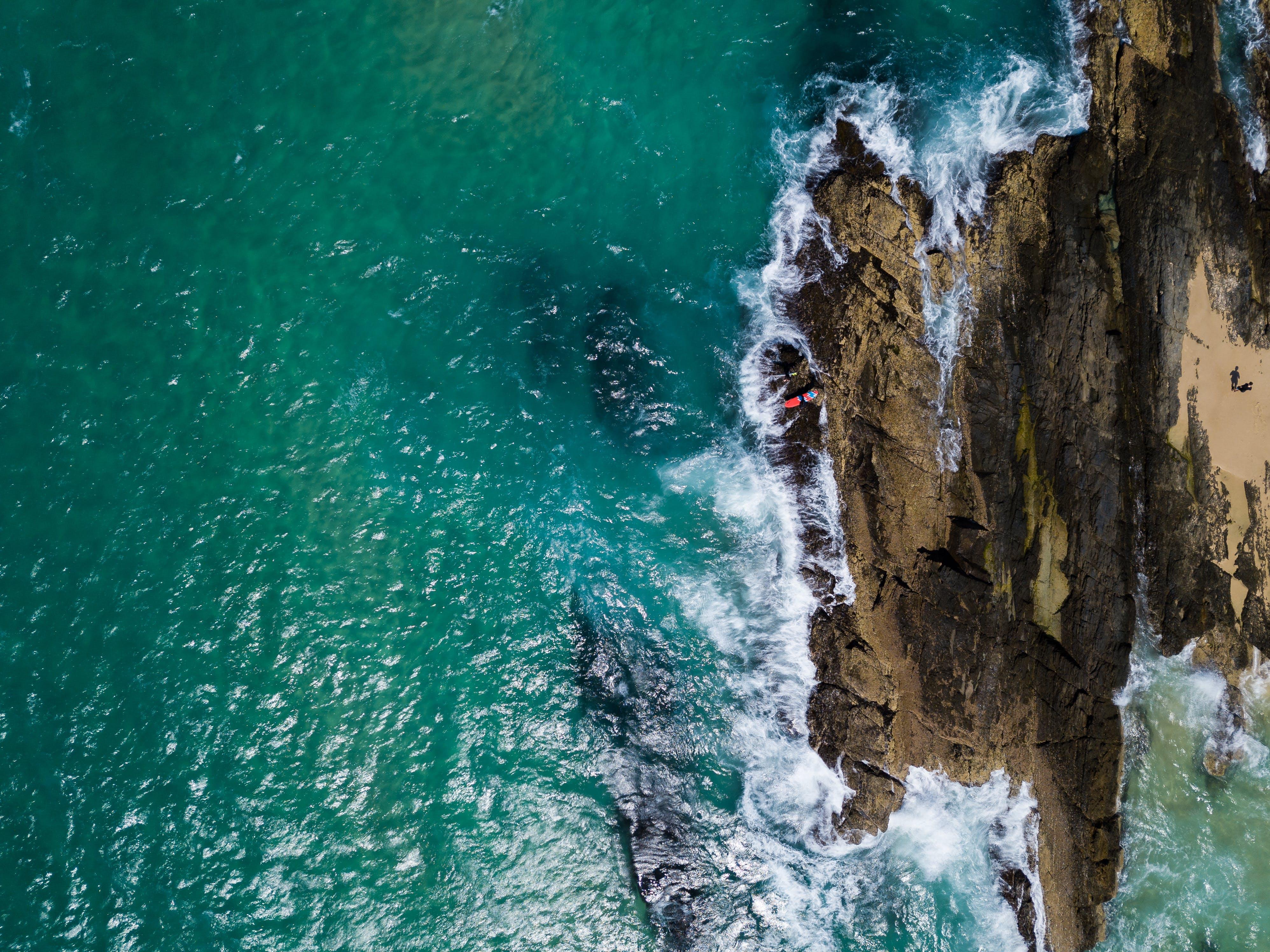Gratis lagerfoto af bølger, dronefotografering, dronekamera, droneoptagelse