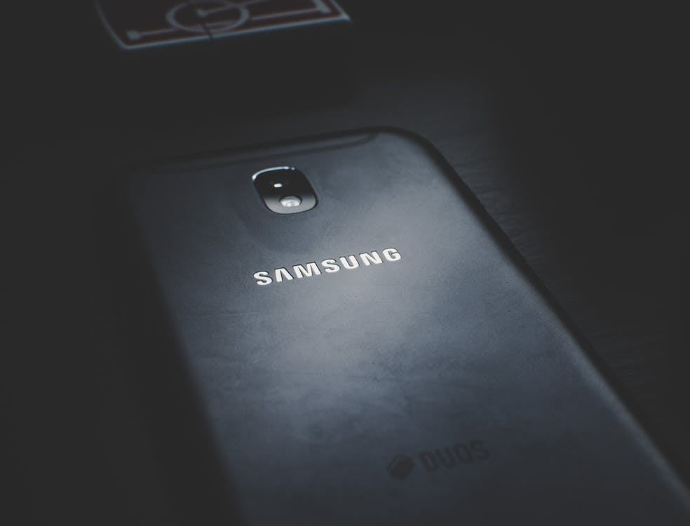 Close-up Photo of Black Samsung Phone