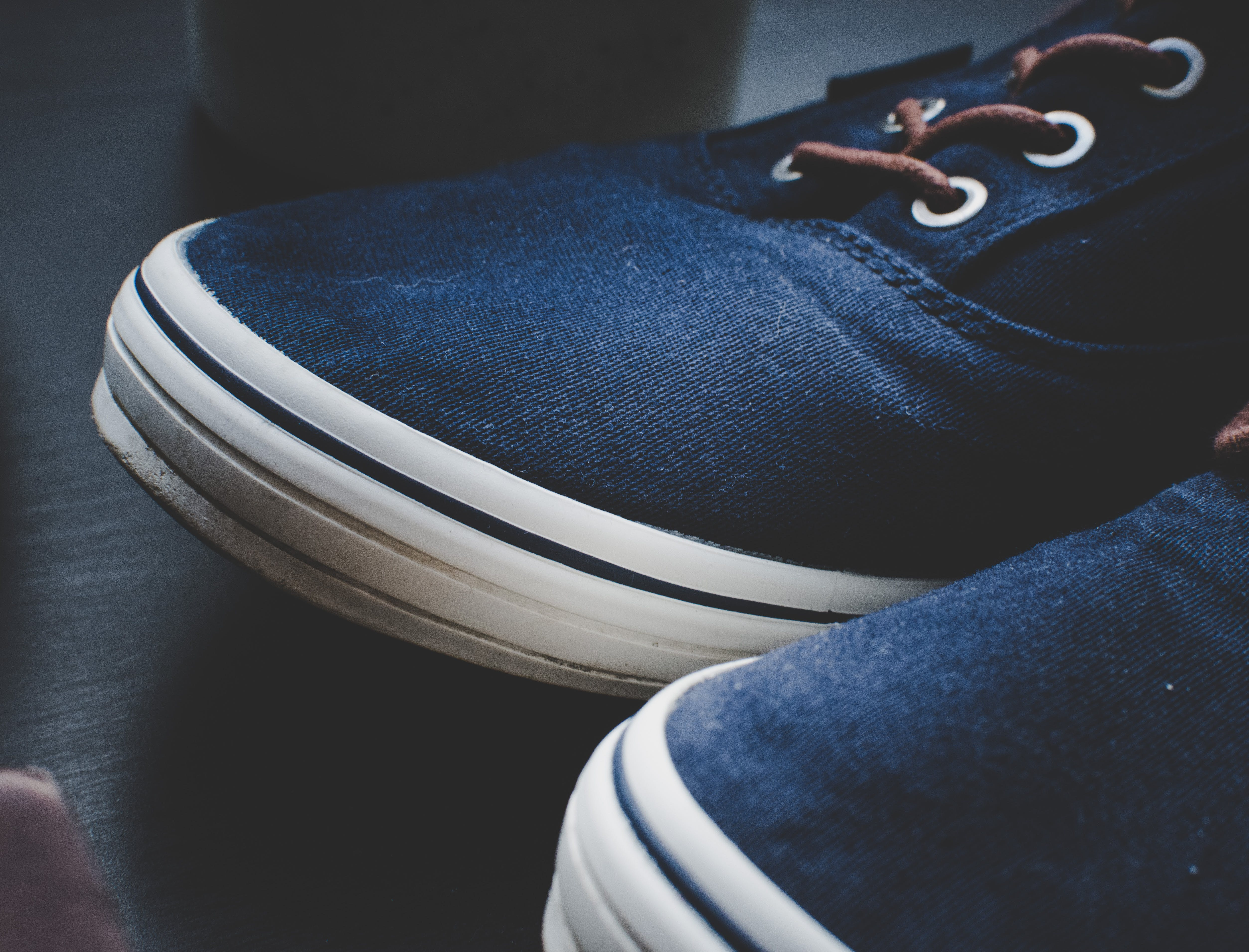 Close-Up Photo of Blue Shoes
