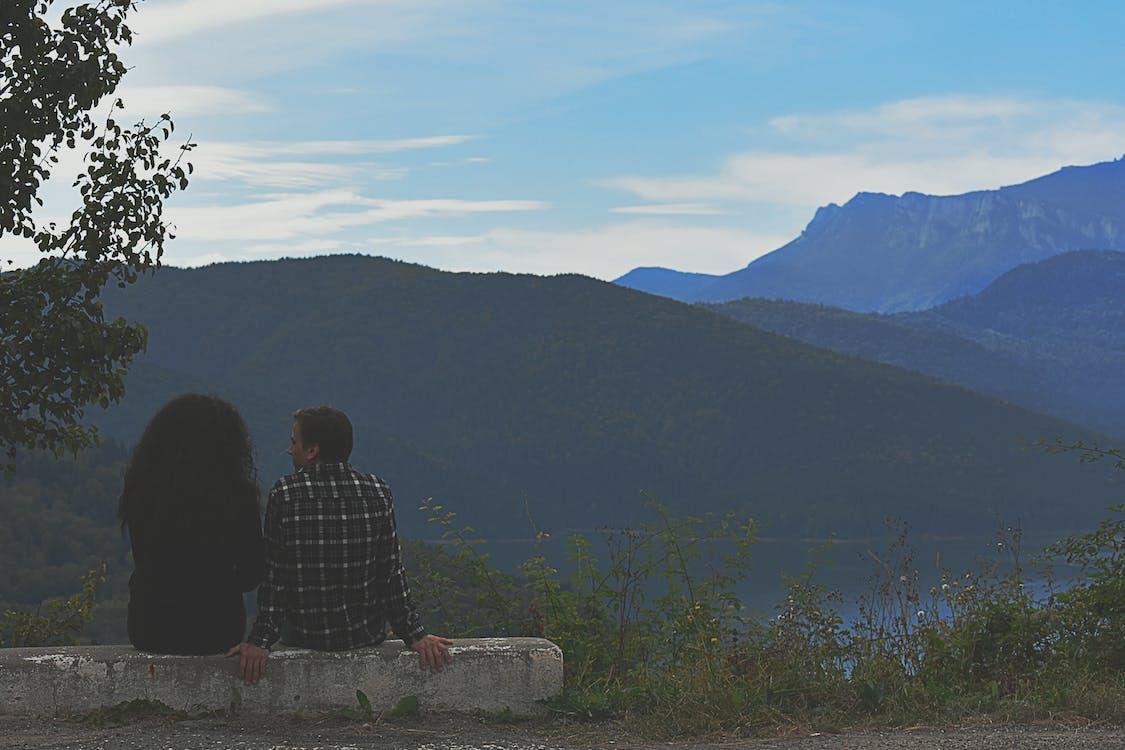 bakker, bjerg, dagslys