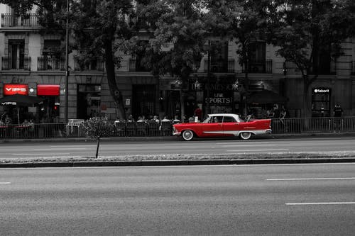 クラシックカー, マドリード, モーター, 乗り物の無料の写真素材