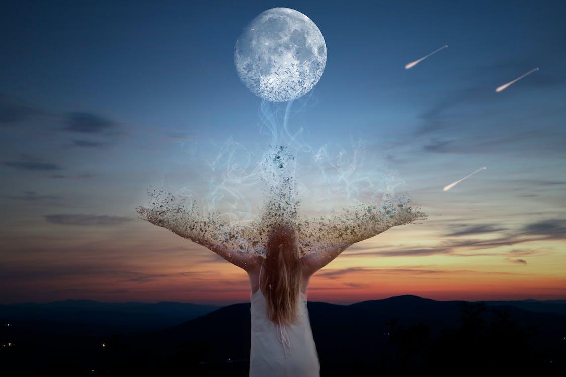 Photo Gratuite De Ciel De Nuit Ciel Du Soir étoile Filante