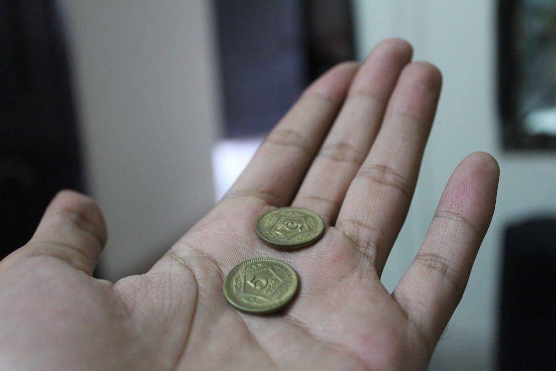 お金, コイン, ハンド