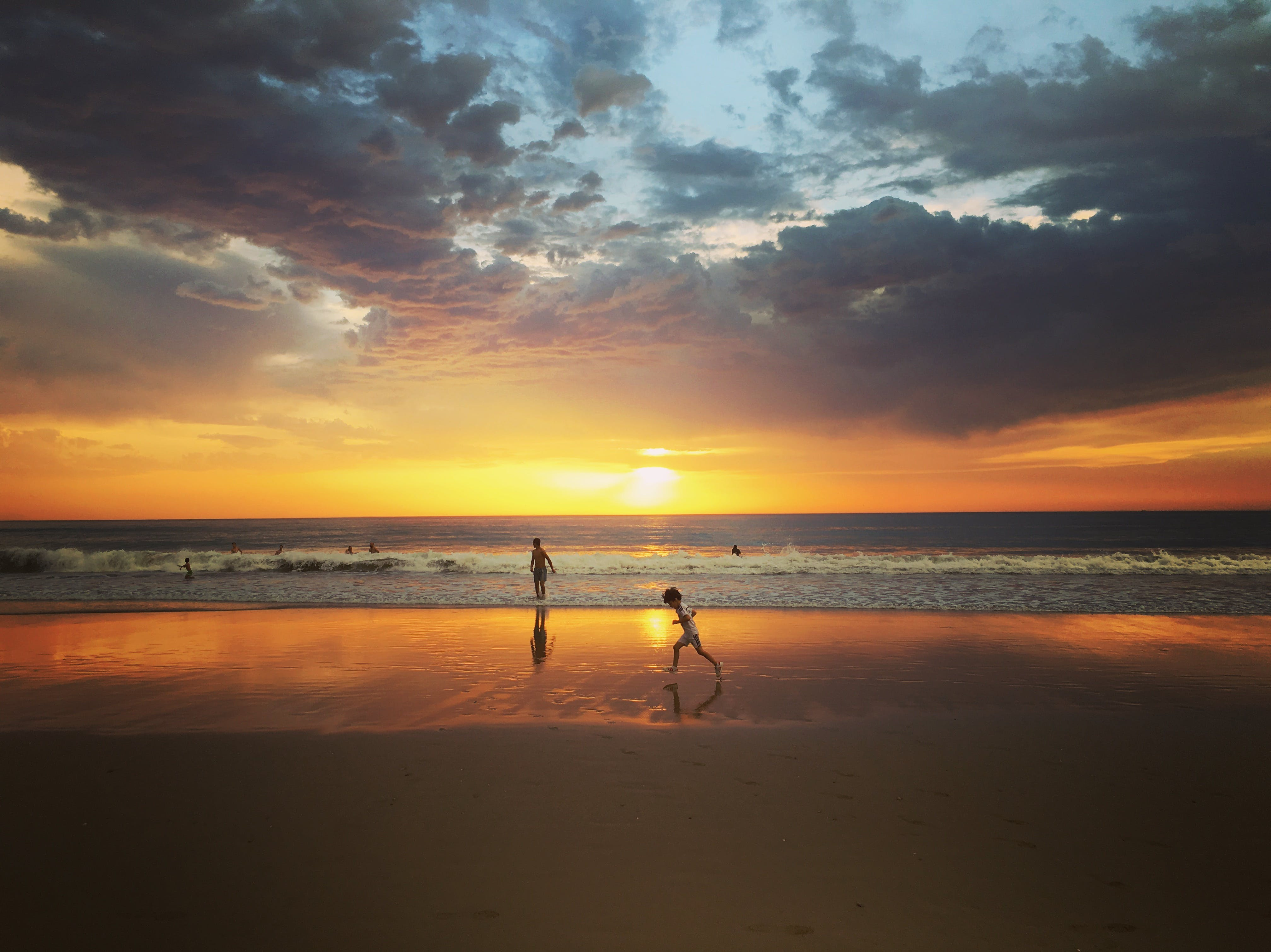 Child Standing on Seashore