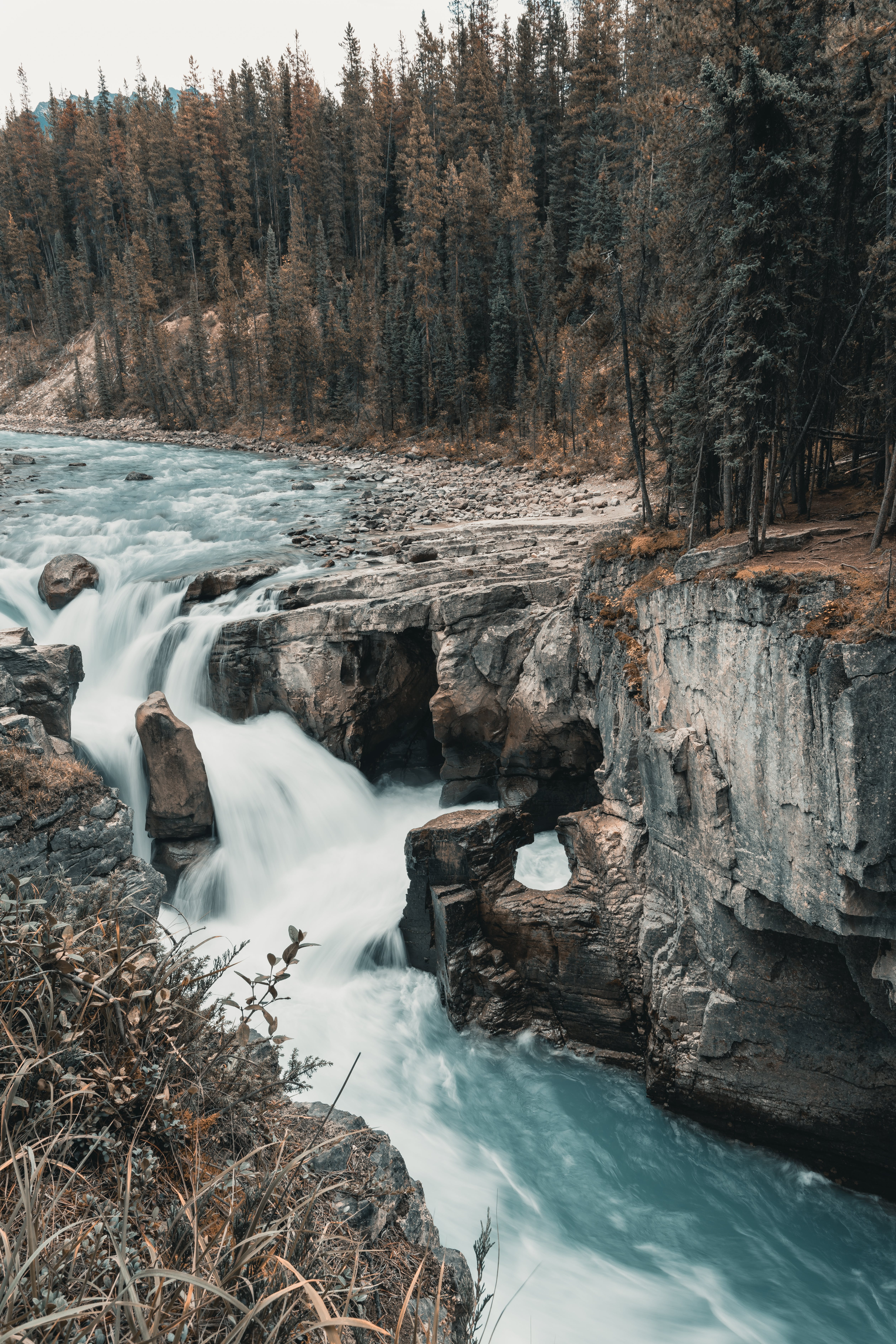 Time Lapse Photo of Flowing River