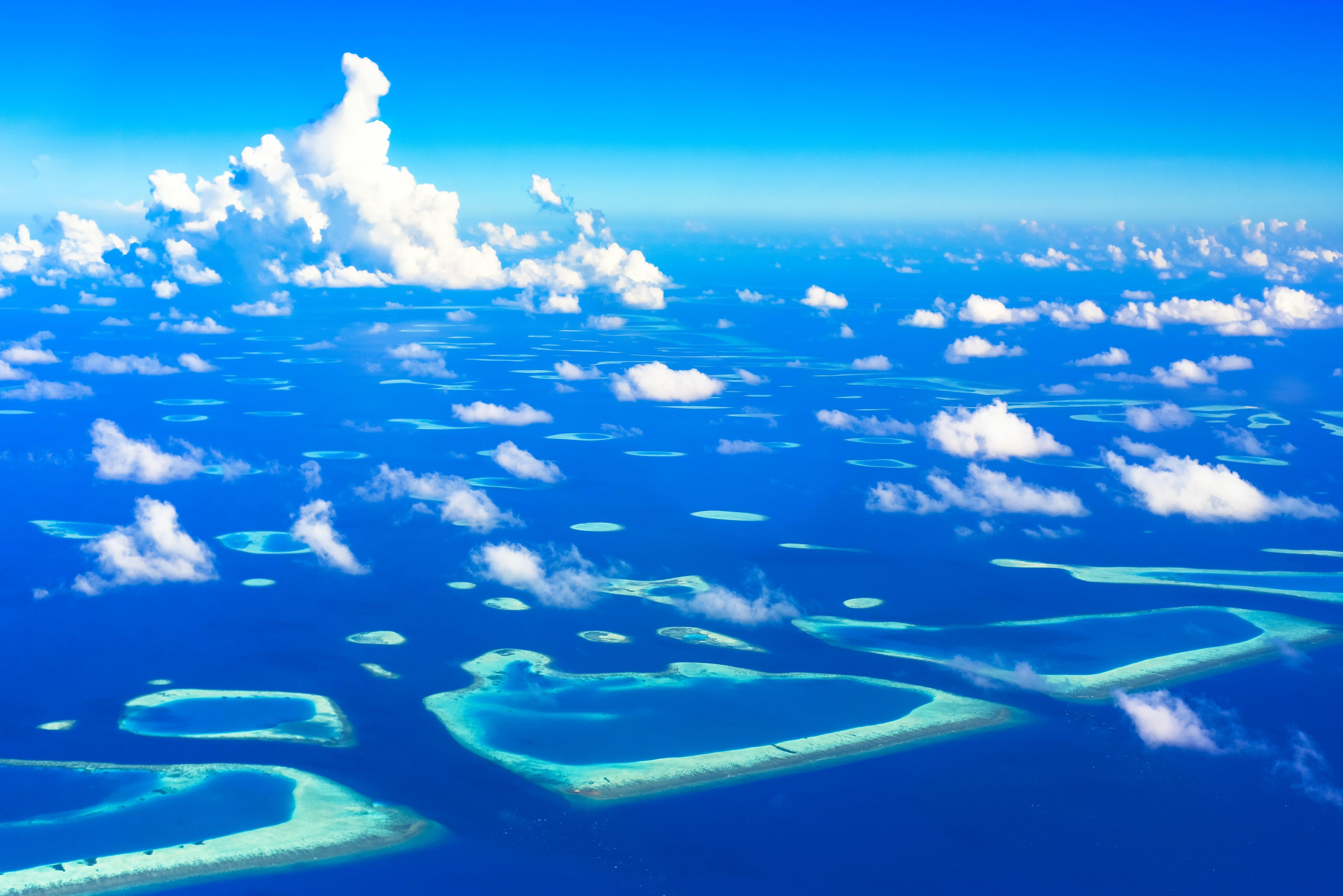 Foto stok gratis air, awan, indah, kepulauan