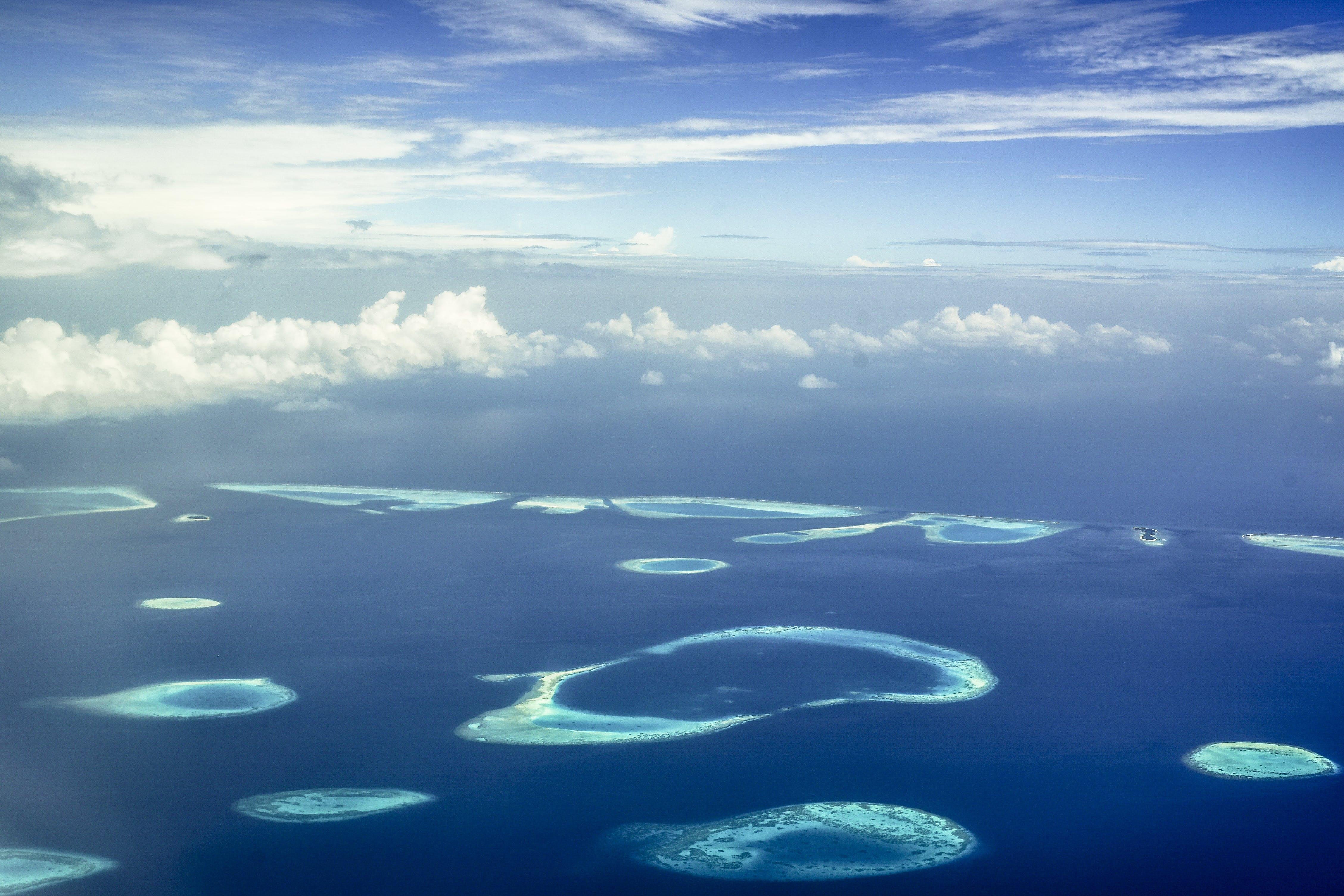 Ilmainen kuvapankkikuva tunnisteilla hiekka, horisontti, lintuperspektiivi, luonto