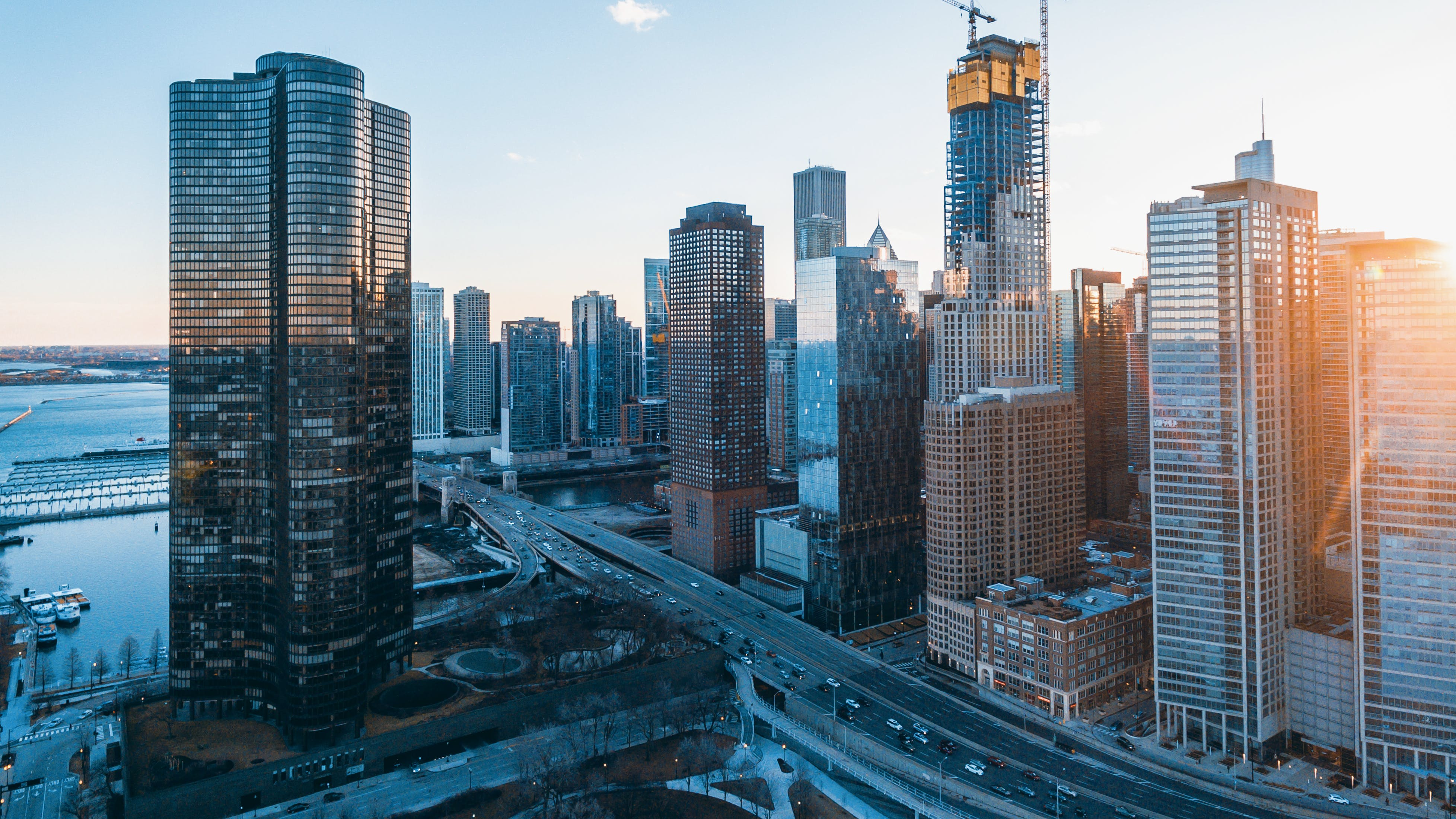 Free stock photo of above, bay, buildings, chicago