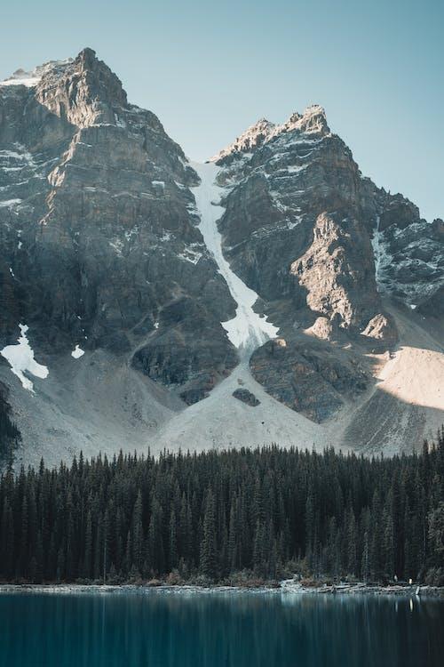 コールド, 反射, 山, 岩の無料の写真素材