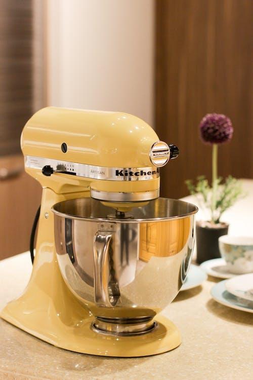 Imagine de stoc gratuită din ajutor de bucătărie, aparat de bucătărie, aparat de mixaj, galben