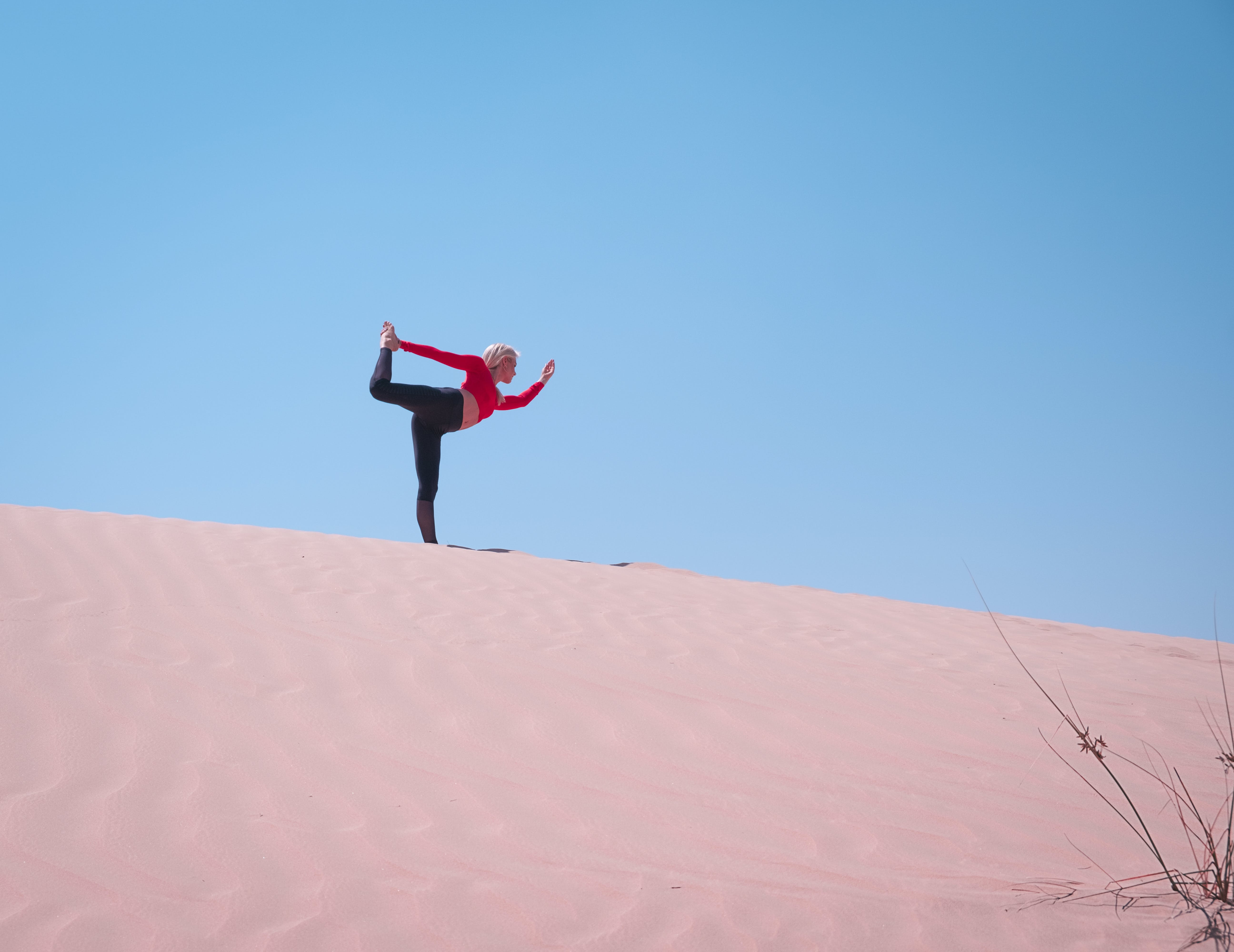 Person Standing on Desert