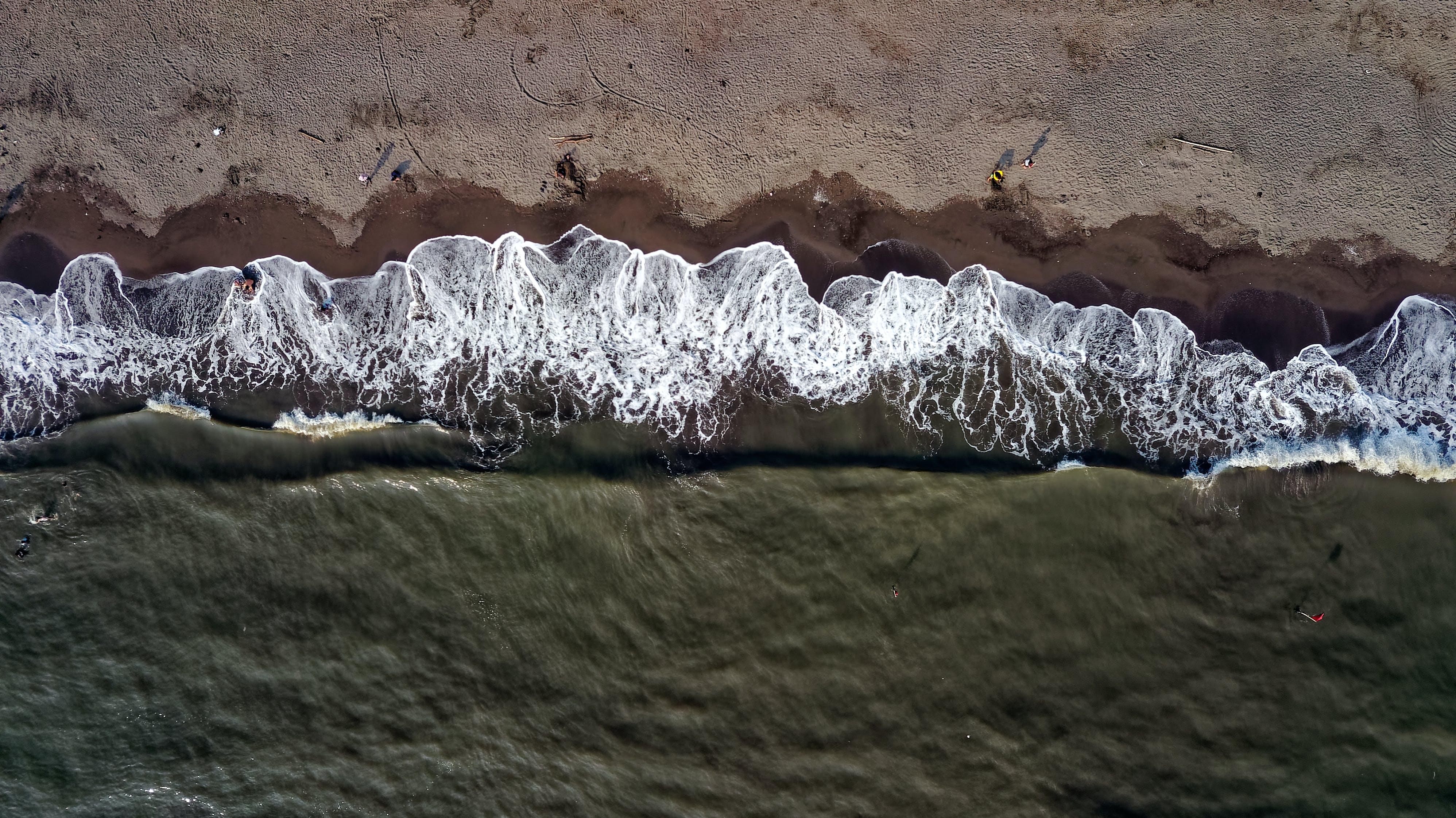 Bird's Eye Photography of Seashore
