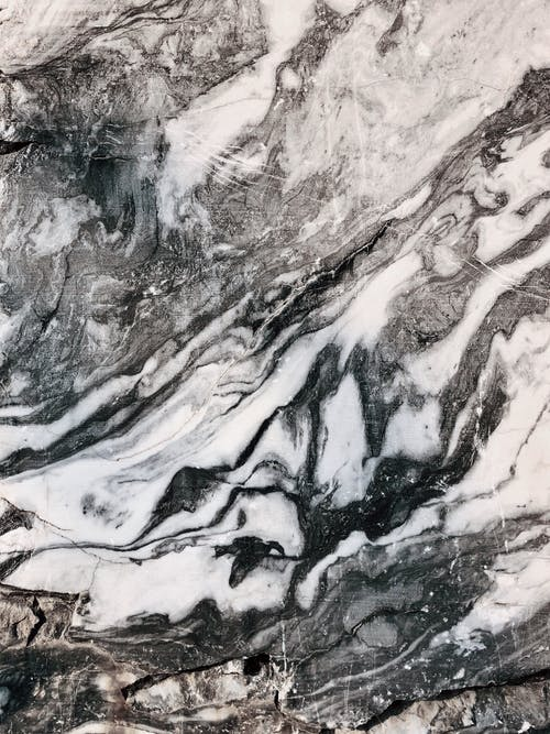 Gray and Black Marble Slab