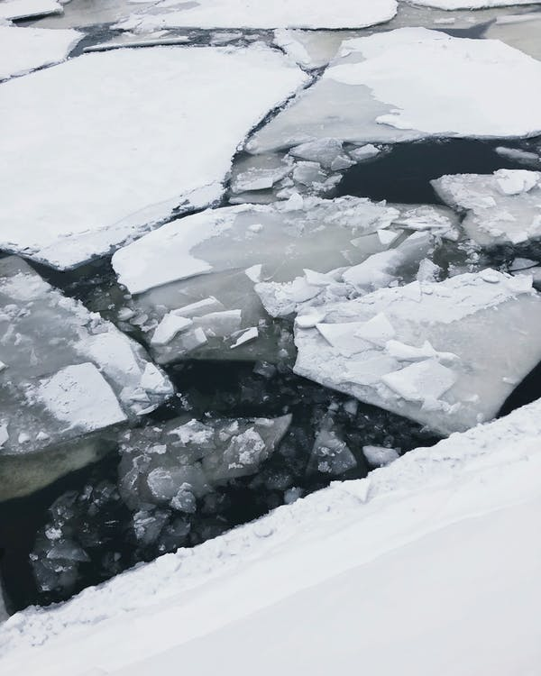 айсберг, вода, зима