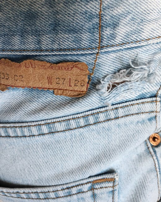 Close up photo of jeans