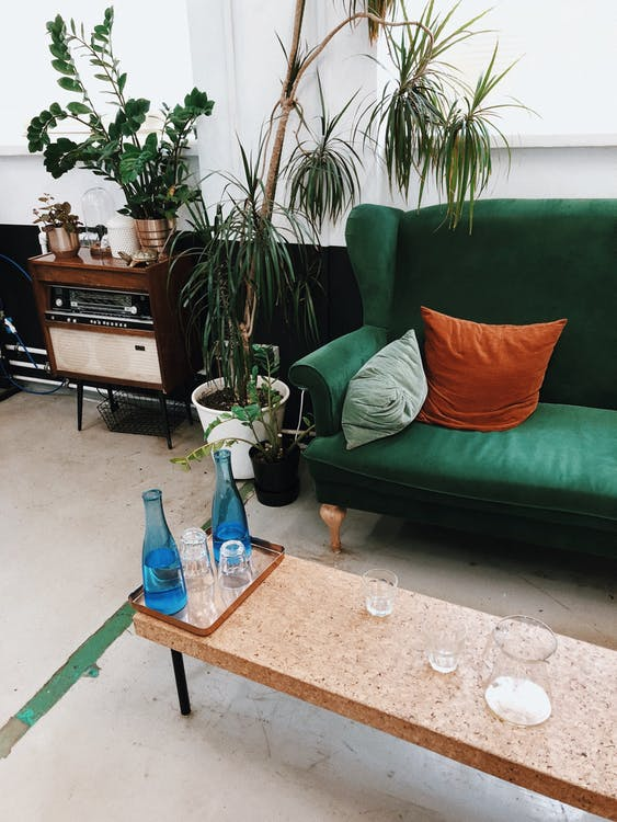 à l'intérieur, canapé, concevoir