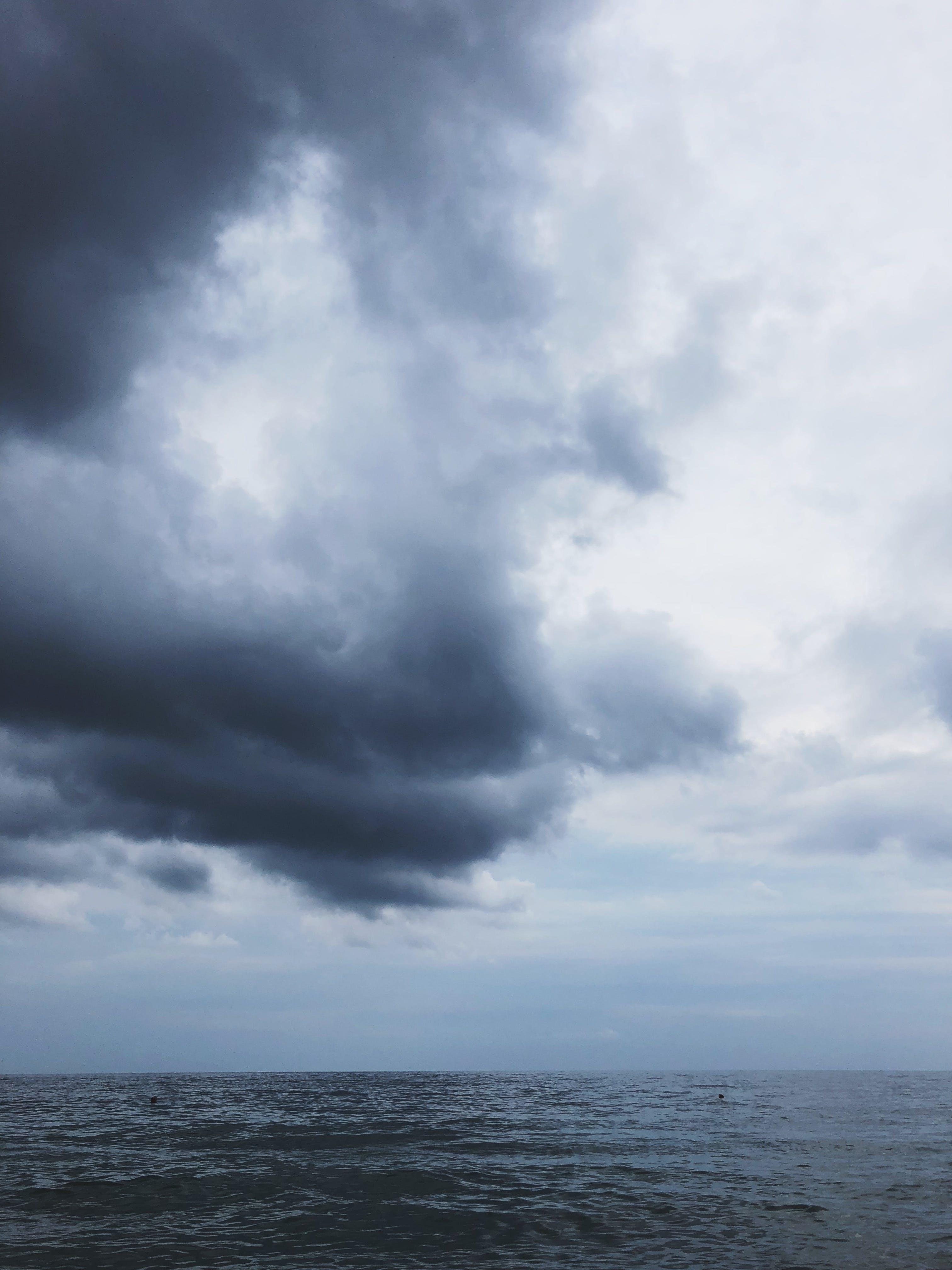 Základová fotografie zdarma na téma horizont, malebný, moře, mraky