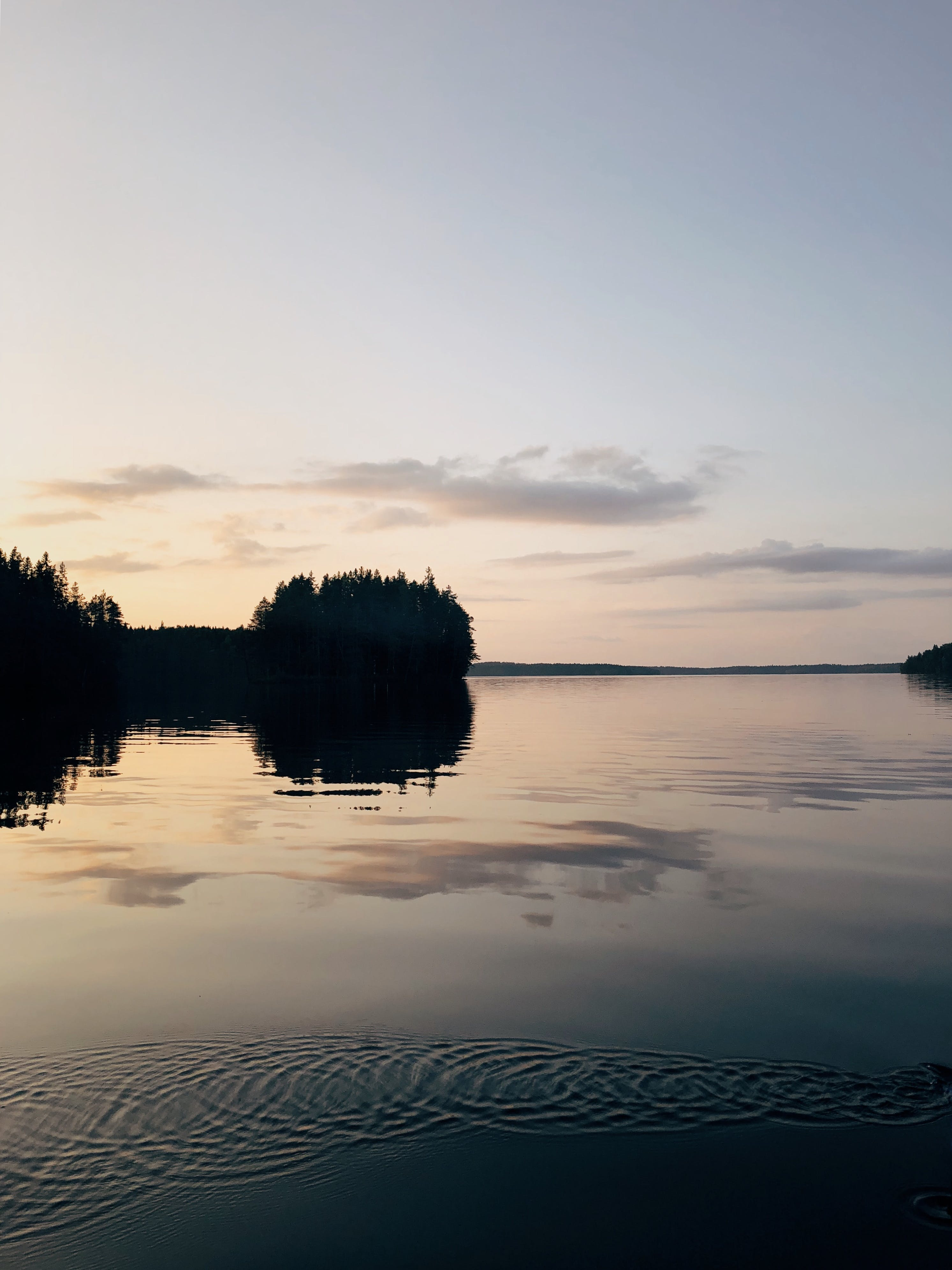 Scenic View of Lake During Dusk