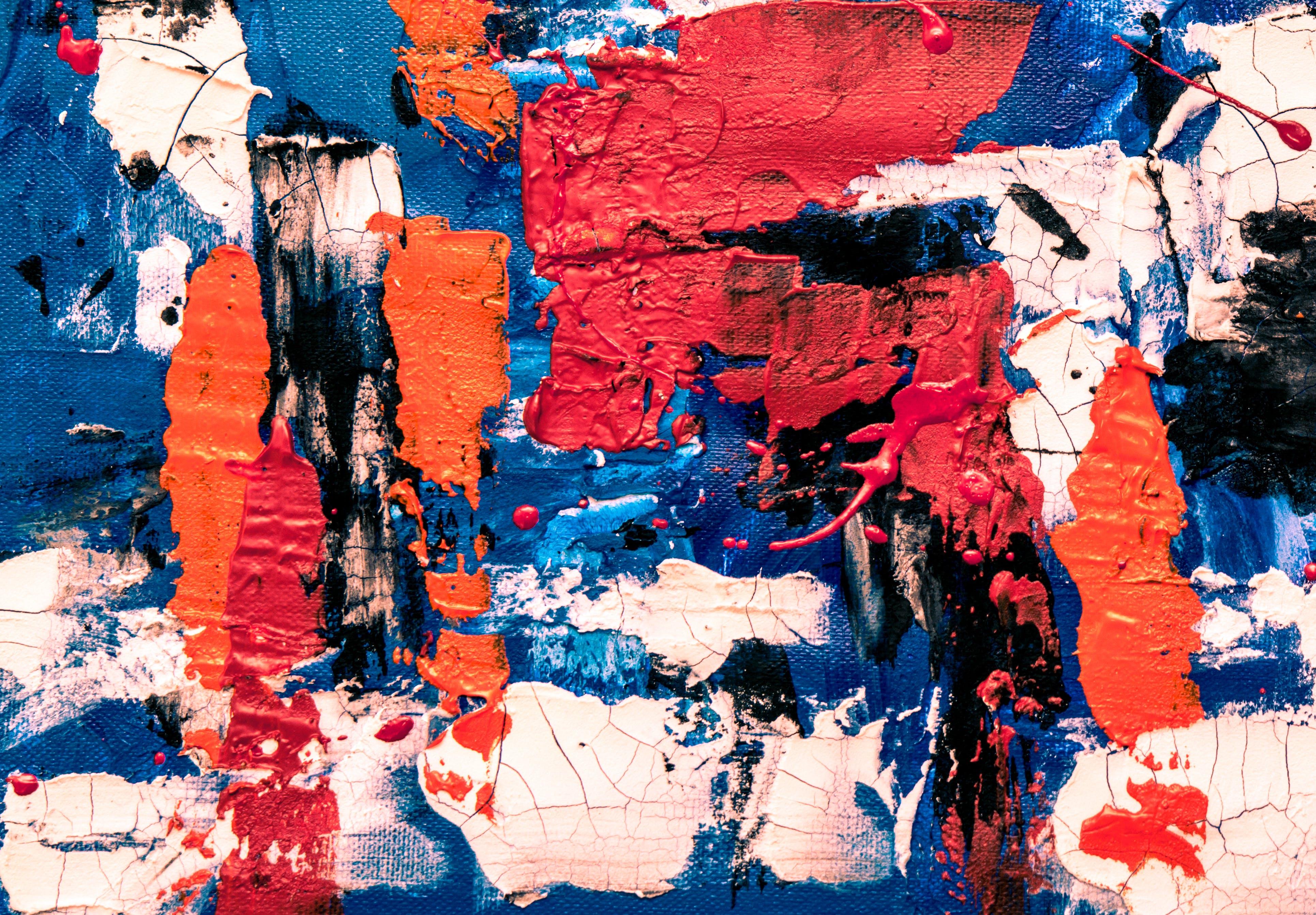 4k-baggrund, abstrakt maleri, akrylmaling