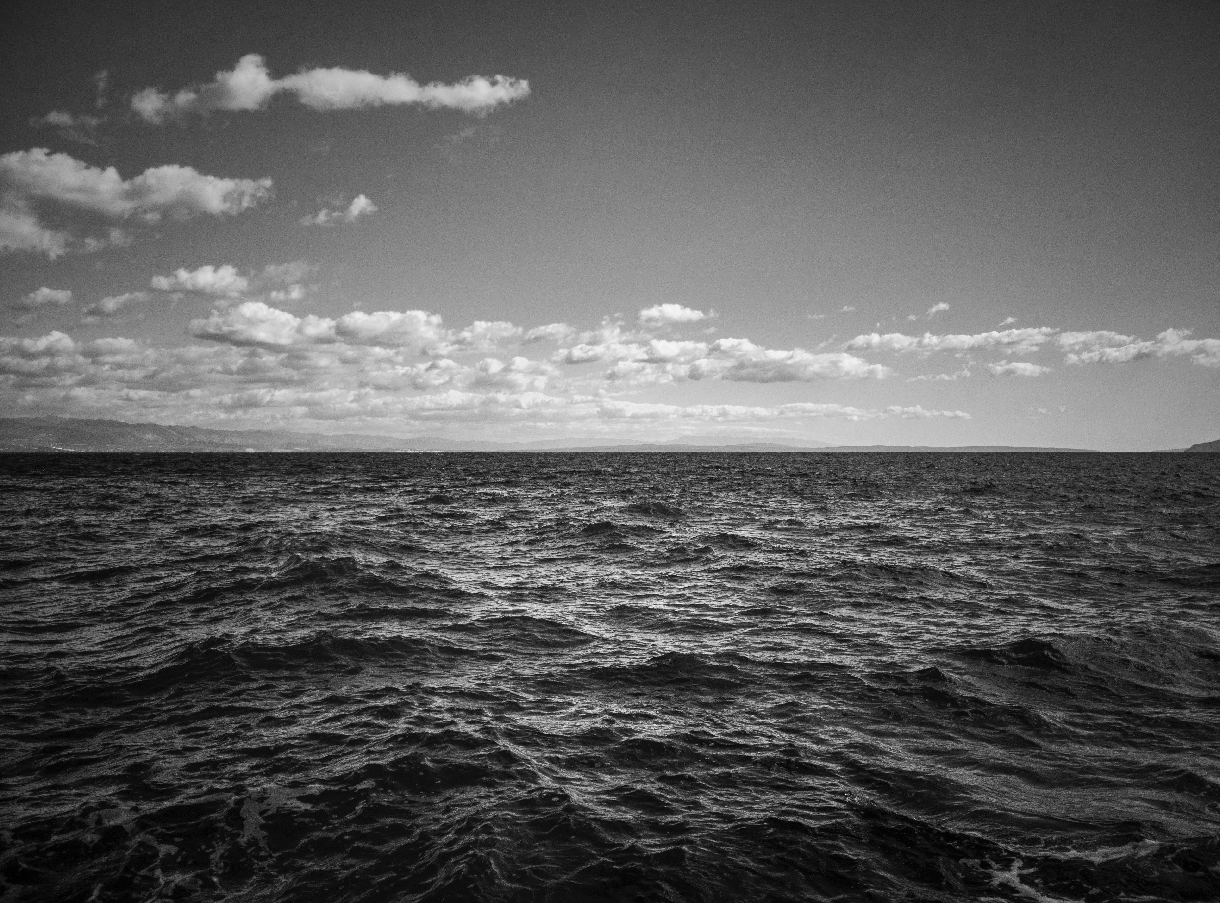 Free stock photo of adriatic sea, black and white, bw, dramatic sky