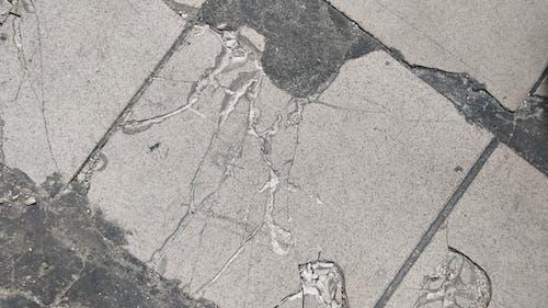 Free stock photo of broken, cracks, floor, tiles