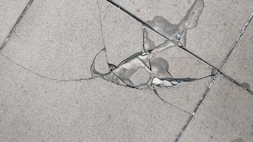 Free stock photo of broken, cracks, floor, tiles