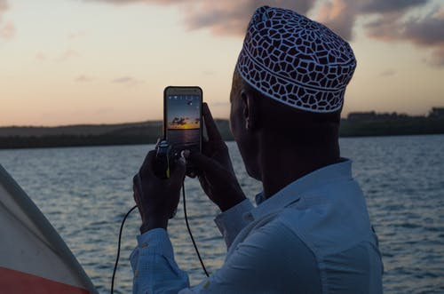 Free stock photo of muslim, ocean, sunset