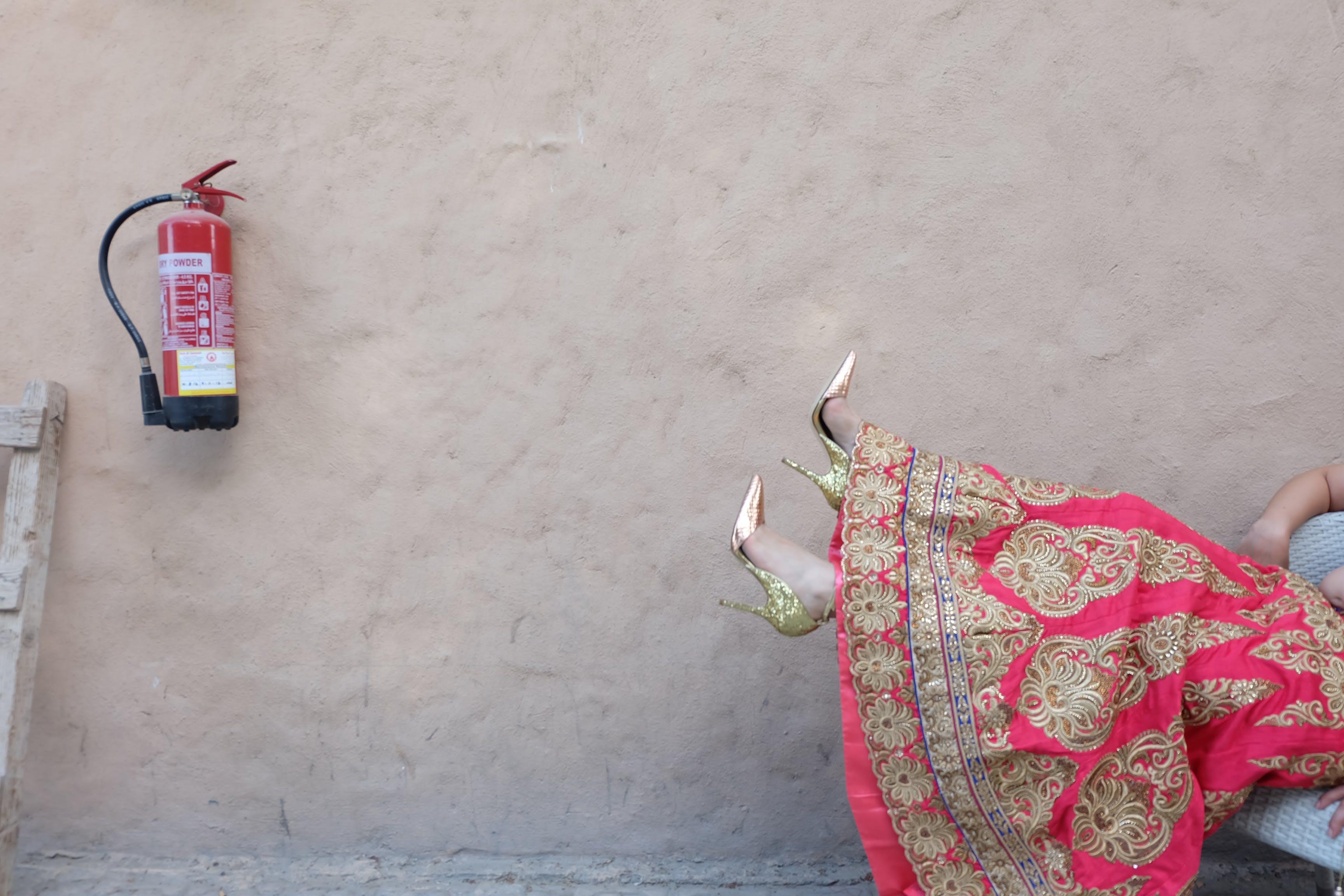 Free stock photo of fashion, person, woman, wall