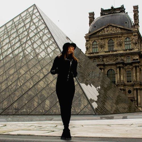 Foto stok gratis louvre, model, Paris, portrail