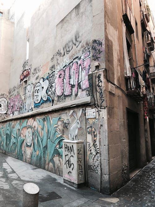 Kostenloses Stock Foto zu barcelona, straßenkunst, wandkunst