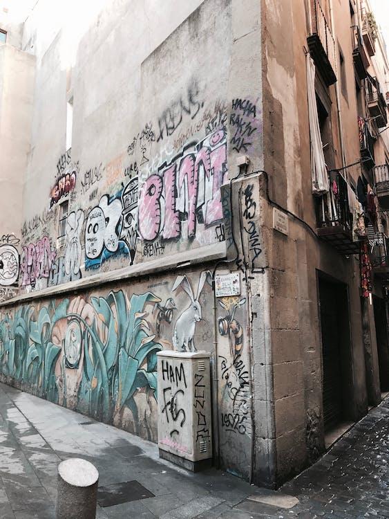 barcelona, sztuka ścienna, sztuka uliczna