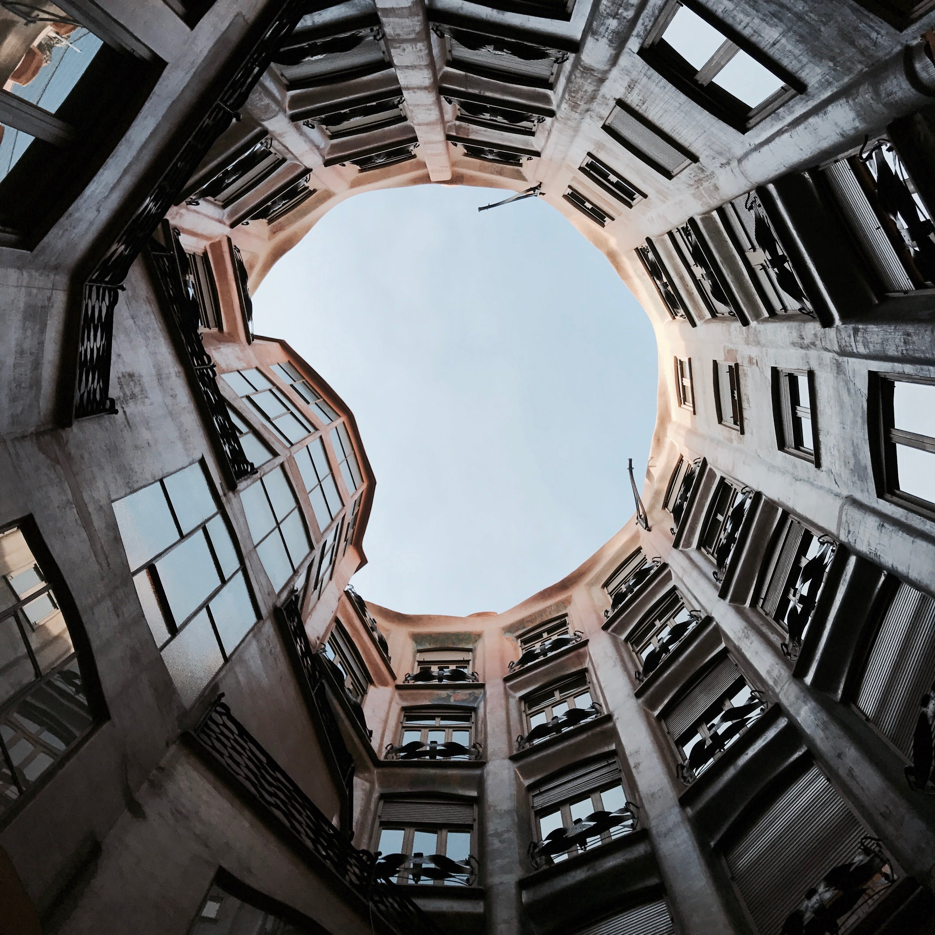 Low Angle Photography of Round Building