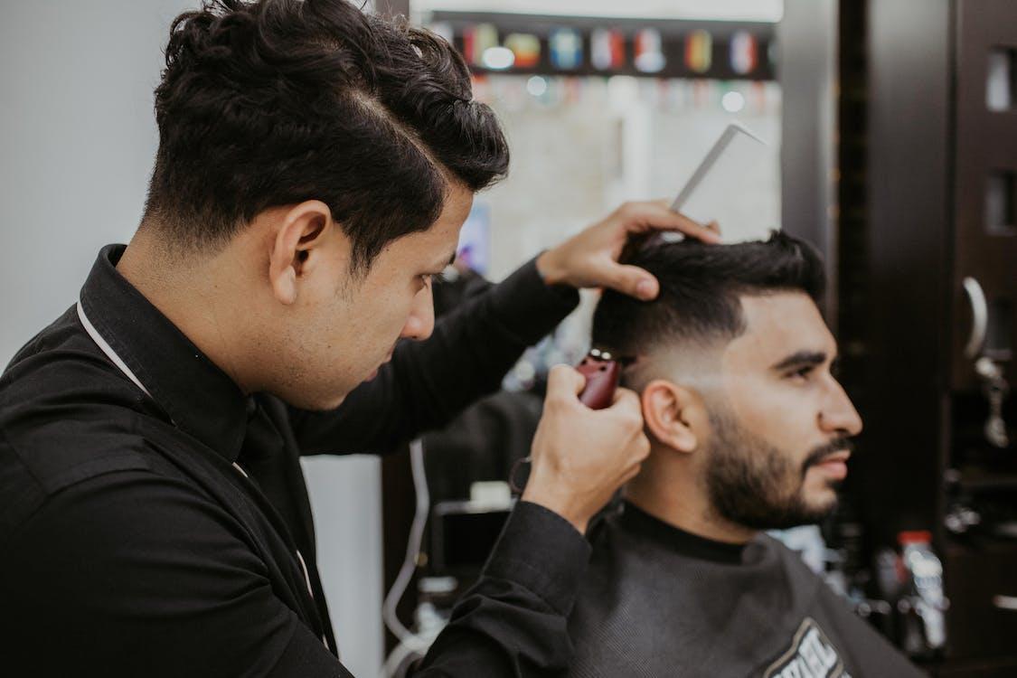 acconciatura, adulto, barbiere