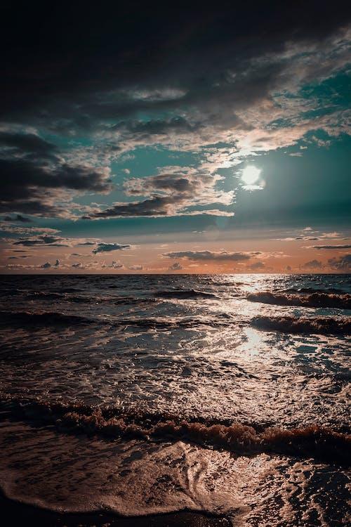 dagsljus, gryning, hav