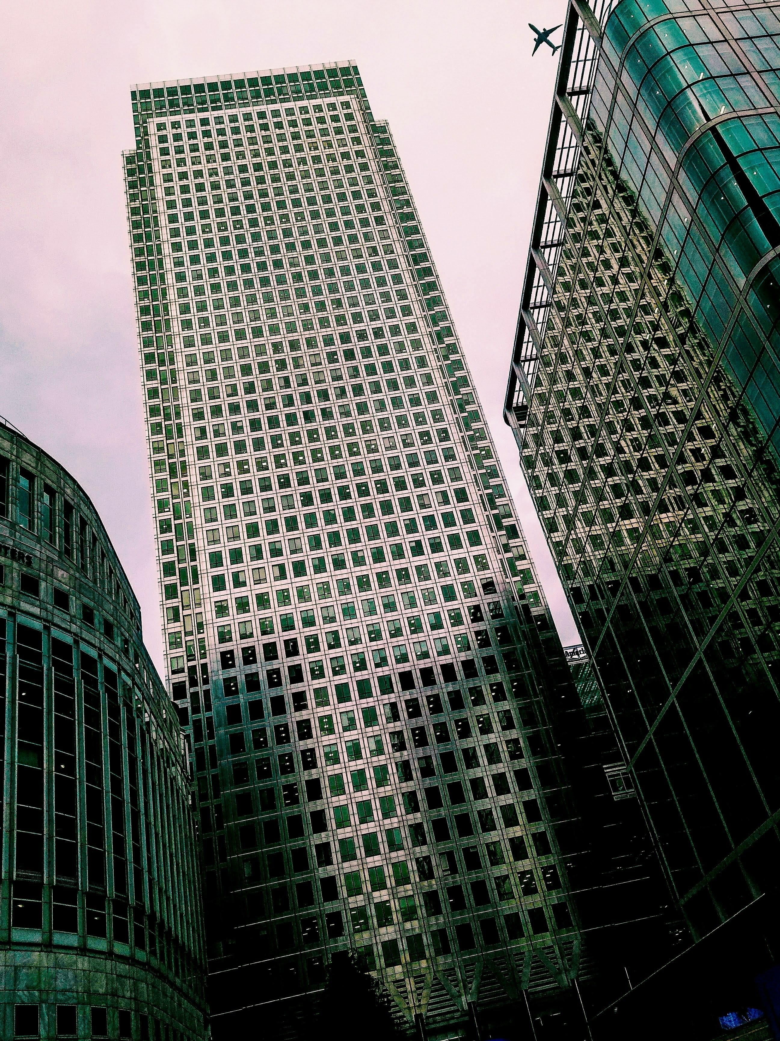 Low Angle View of Green High-rise Building