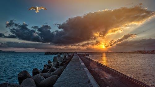 Darmowe zdjęcie z galerii z chmury, morze, niebo, ocean