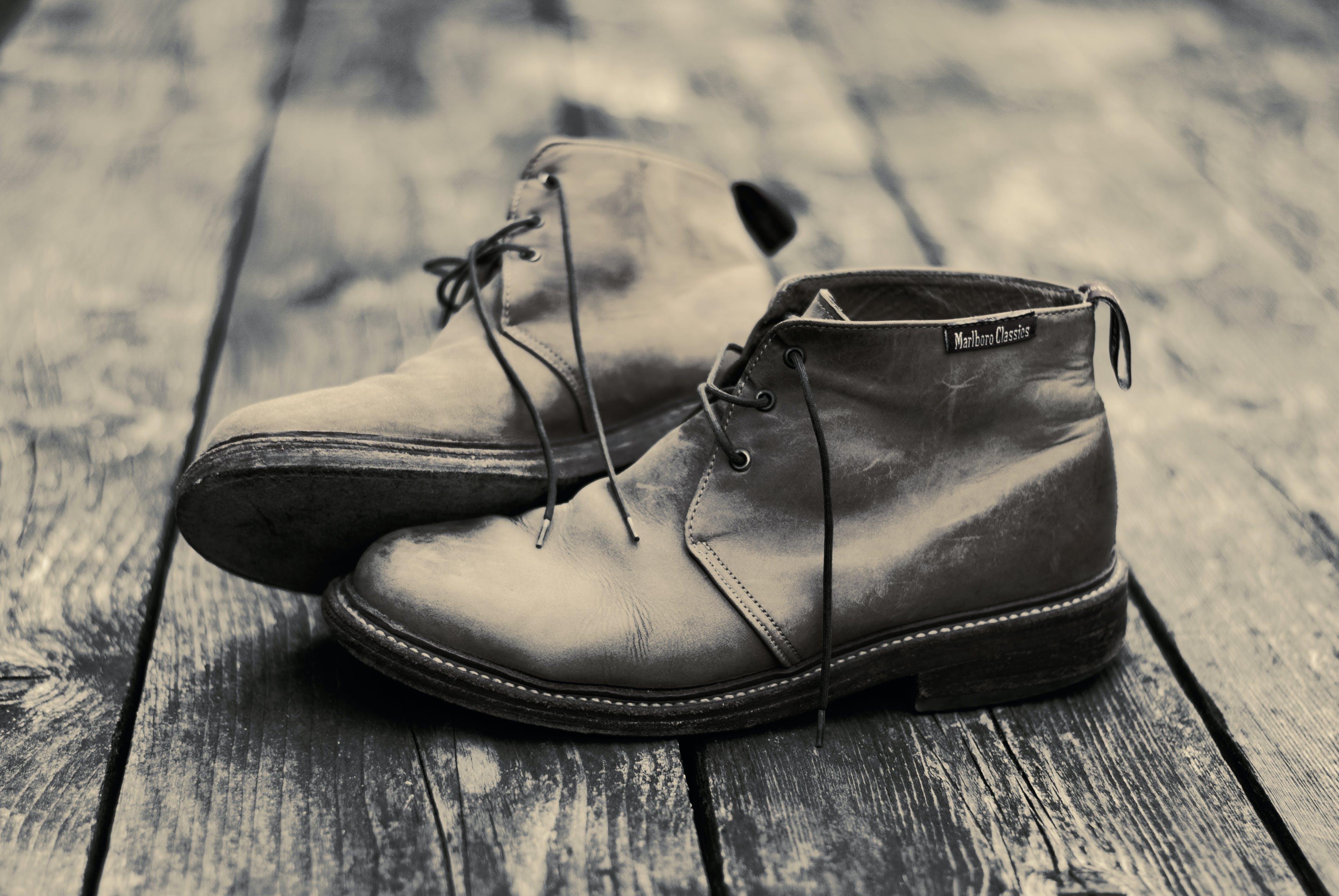 Chukka Boots On Parquet Floor