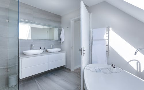 White Bathroom Interior