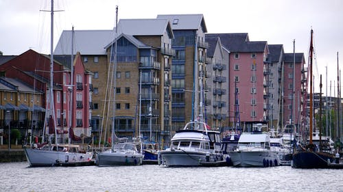 Boats Near High-rise Buildings
