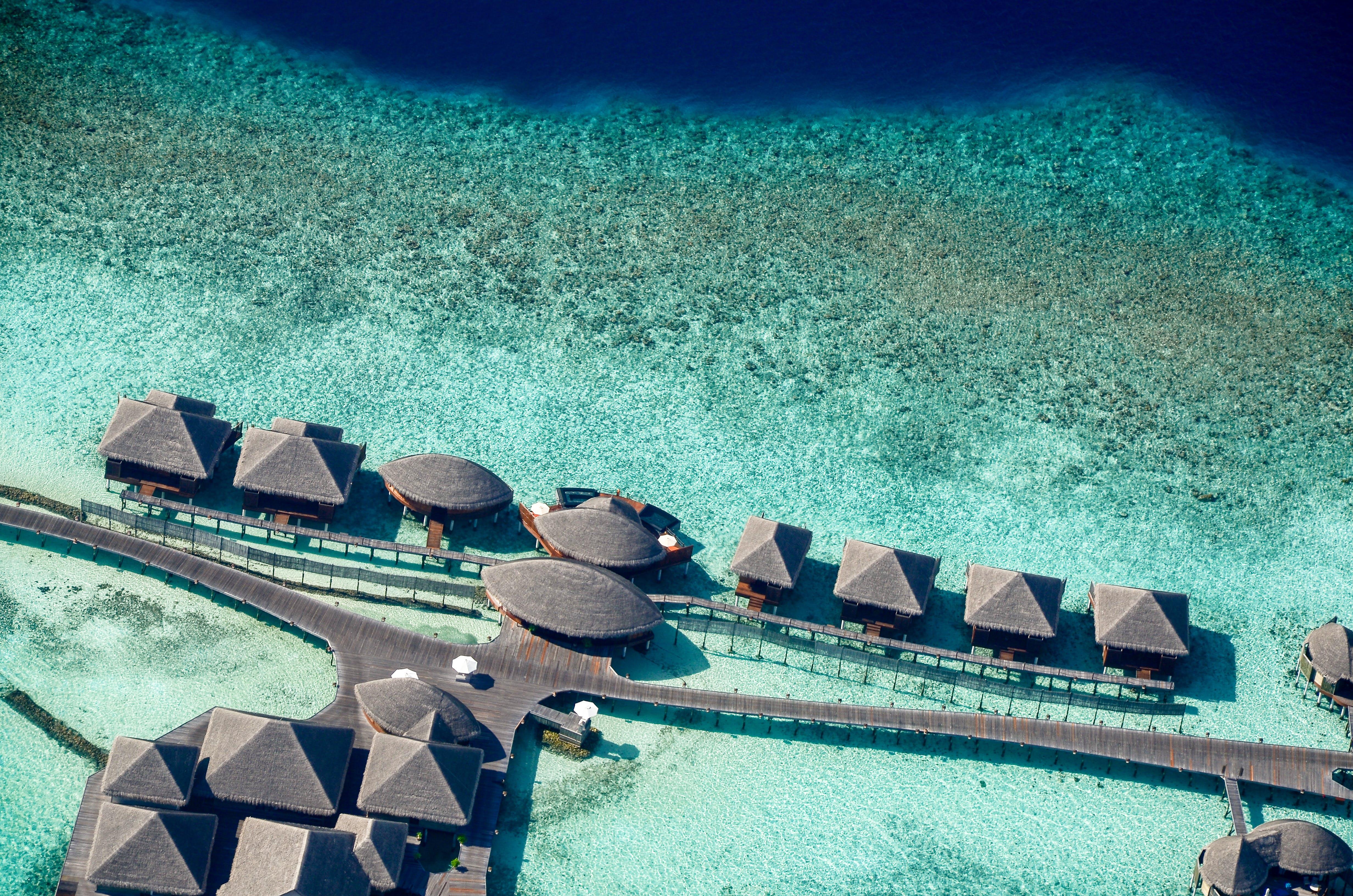 Bird's-eye View Photo of Cabanas