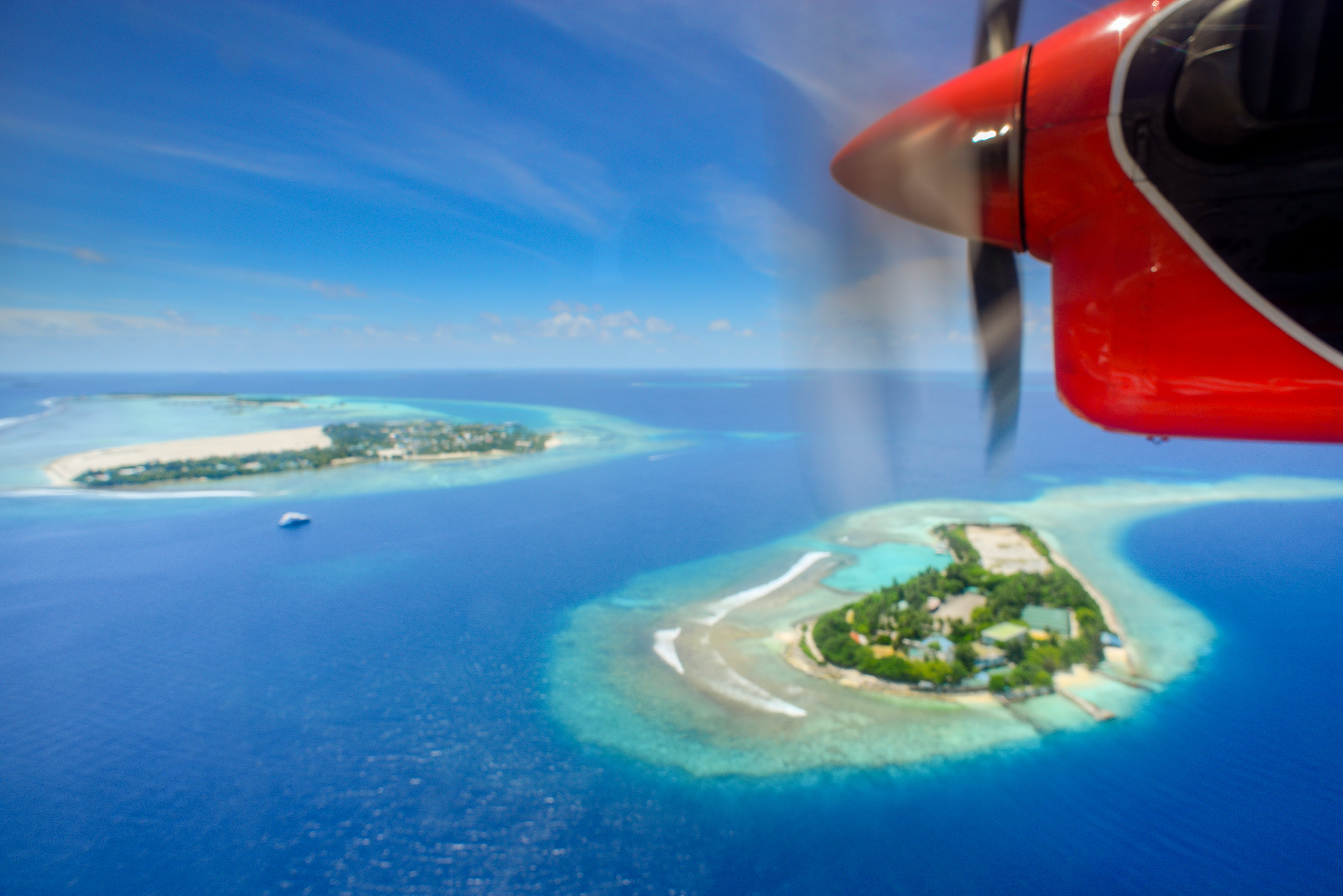 Aerial Photography of Red Plane