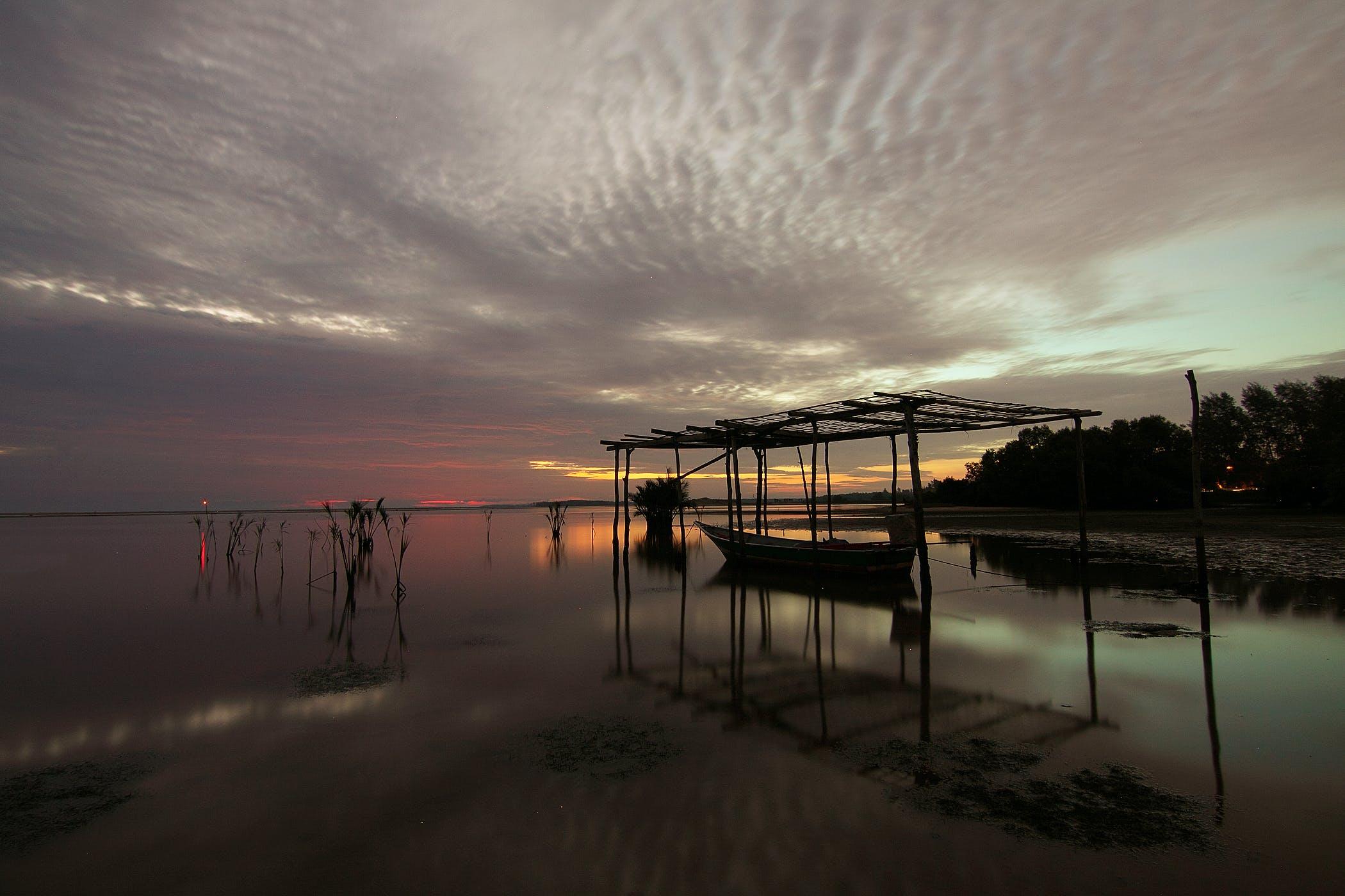 Immagine gratuita di acqua, alba, litorale, mare