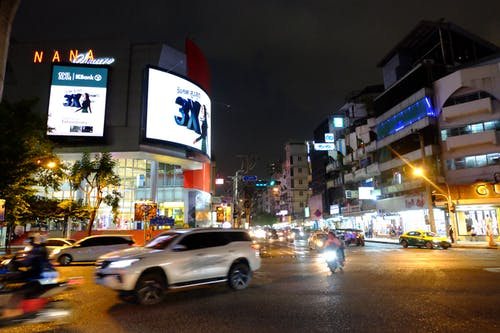 Free stock photo of Bangkok, busy street, nana square, night