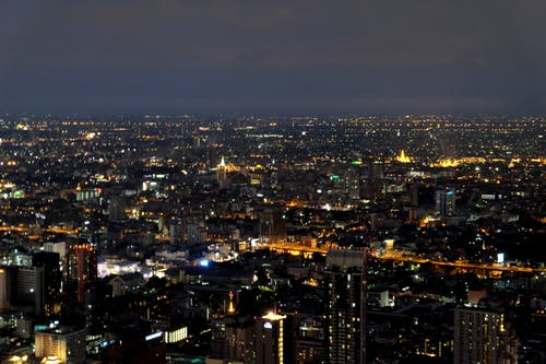 Free stock photo of Bangkok, buildings, lights, night
