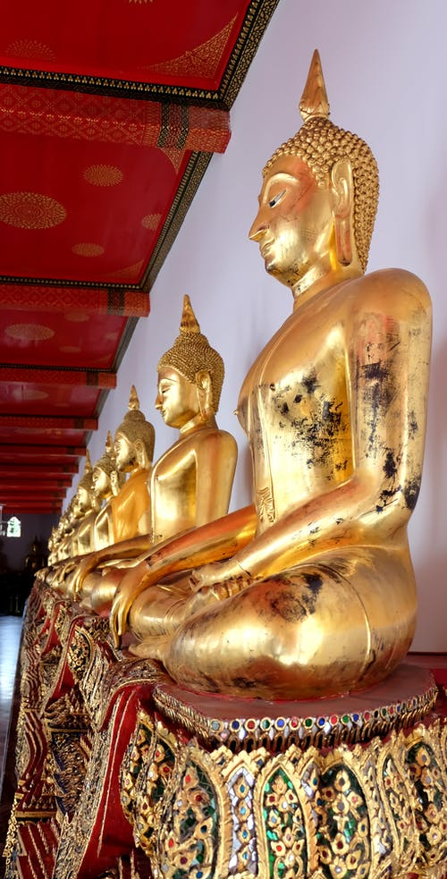Free stock photo of ancient, buddha, golden, statue