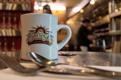 叉子, 咖啡店, 咖啡杯, 室內 的 免費圖庫相片