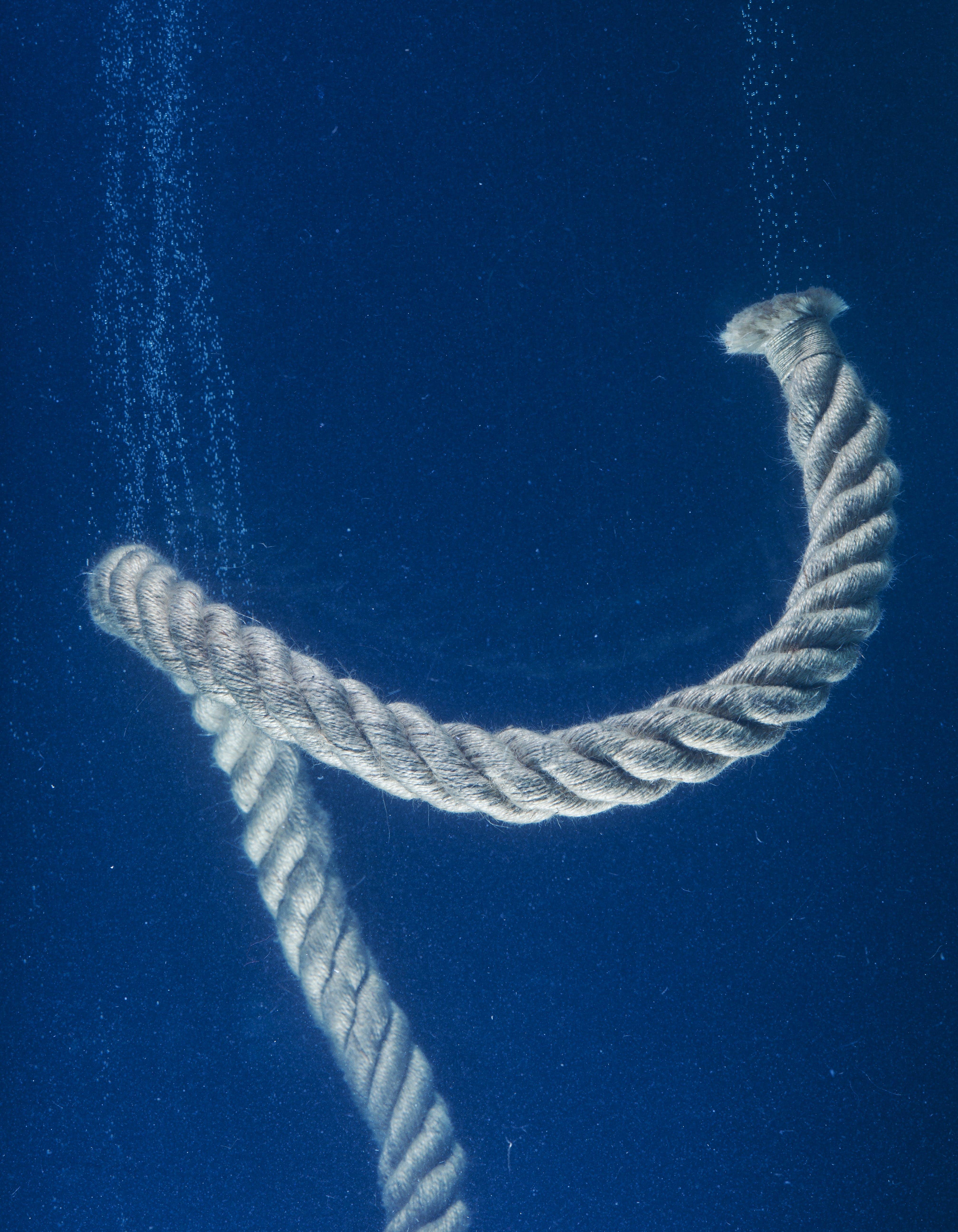 Underwater Photo of Brown Rope