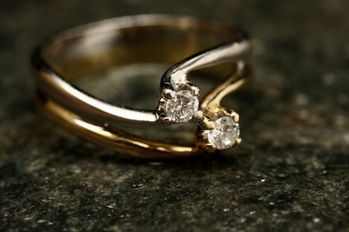 Close-Up Photo of Ring With Diamonds