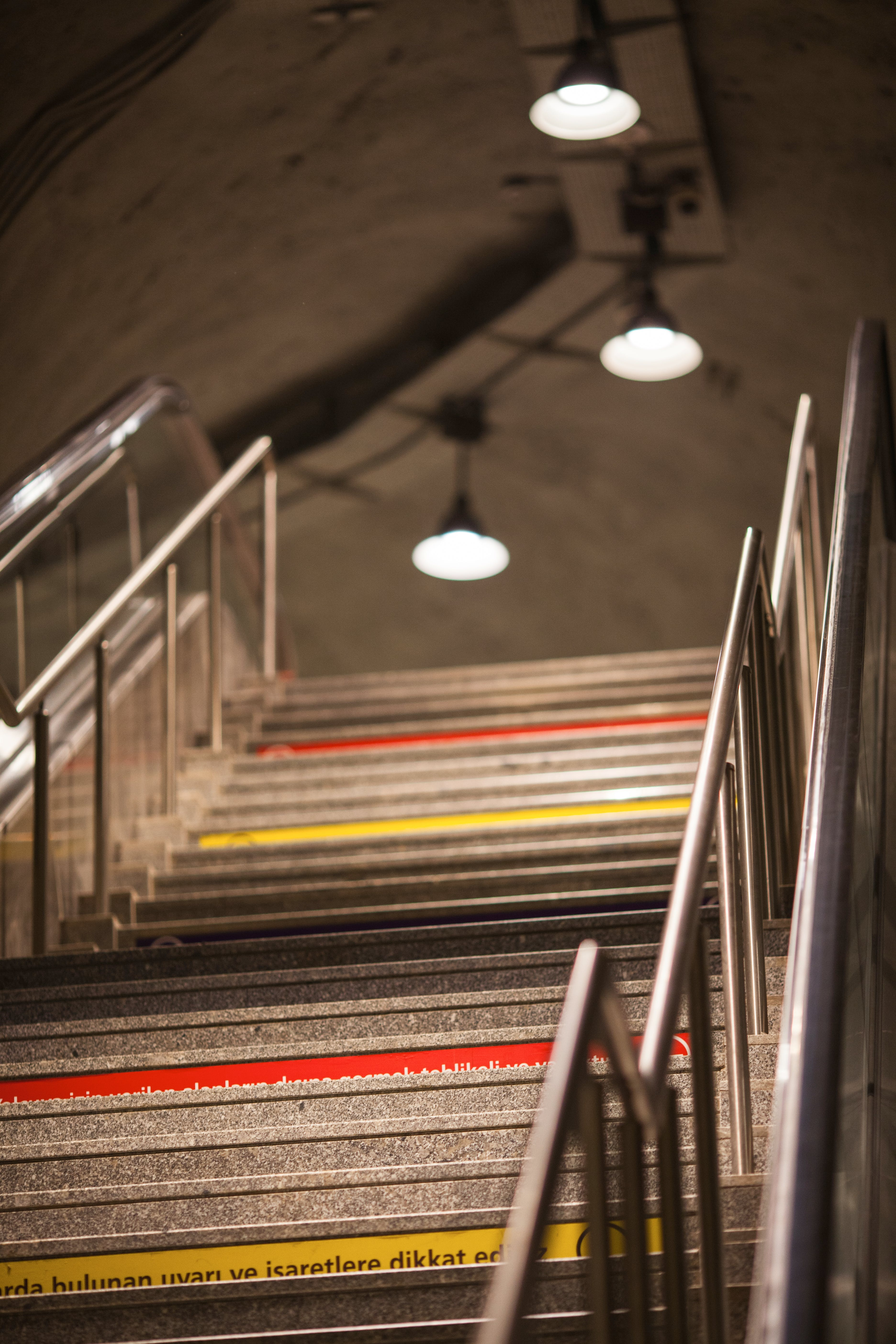 Selective Focus Photo of Stainless Steel Handrails