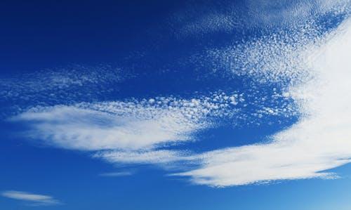 Gratis lagerfoto af blå, blå himmel, himmel, hvid